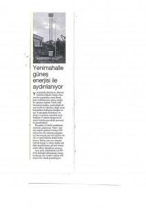 Türkiye: ''Yenimahalle güneş enerjisi ile aydınlanıyor.''