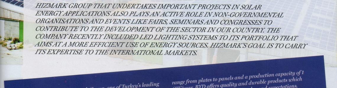 African Business Life dergisinde yayınlanan Solar Uygulama Haberimiz