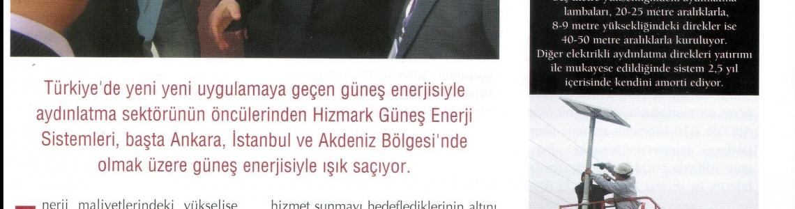 Enerji Dergisi- Hizmark Group Güneş Enerjisiyle Büyüyen Marka