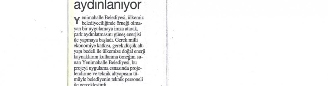 """Türkiye: """"Yenimahalle güneş enerjisi ile aydınlanıyor."""""""