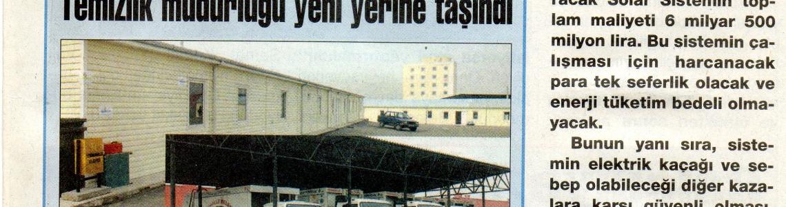 İlk yaptığımız solar aydınlatma uygulamalarından 'Büyükşehir Ankara' gazetesine çıkan haberimiz