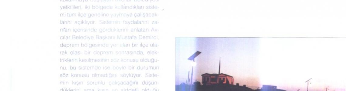 """Floraplus: """"Avcılar'da sokaklar güneş enerjisiyle aydınlanıyor."""""""
