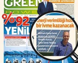 Green Power: Özel Röportaj / Hizmark Group Genel Müdürü ve GENSED YK Üyesi Savaş Yeşiltaş