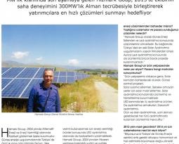 Solarex Eylül-Ekim 2014 Dergisindeki Röportajımız.